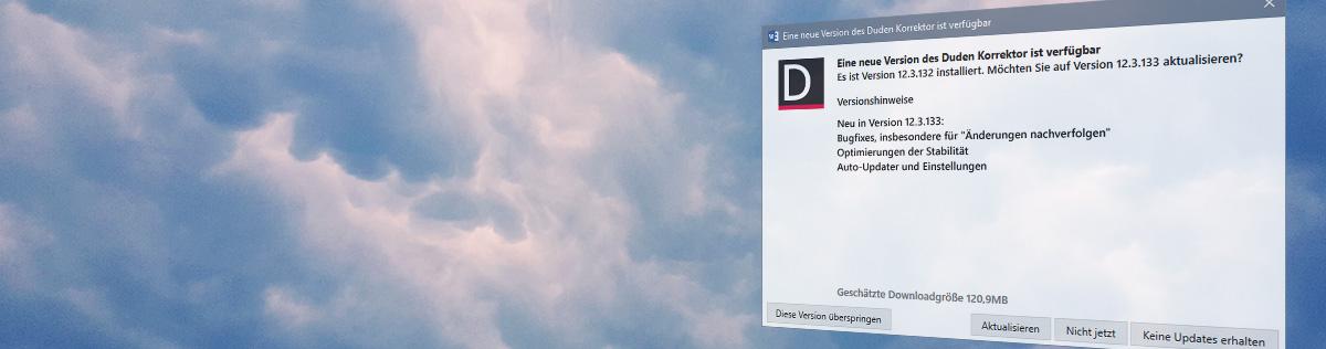 Duden Korrektor 12.3 für Microsoft Office: Immer aktuell